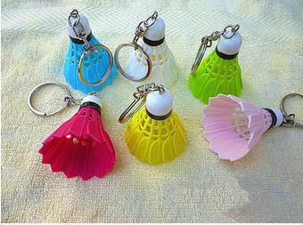20pcs Badminton bag key ring keychain Pendant badminton shuttlecocks key chain sports so ...
