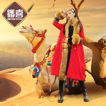 LYNETTE'S CHINOISERIE Winter New Arrival Original Design Women National Trend Loose Fur Patchwork Wadded Jackets Outerwear