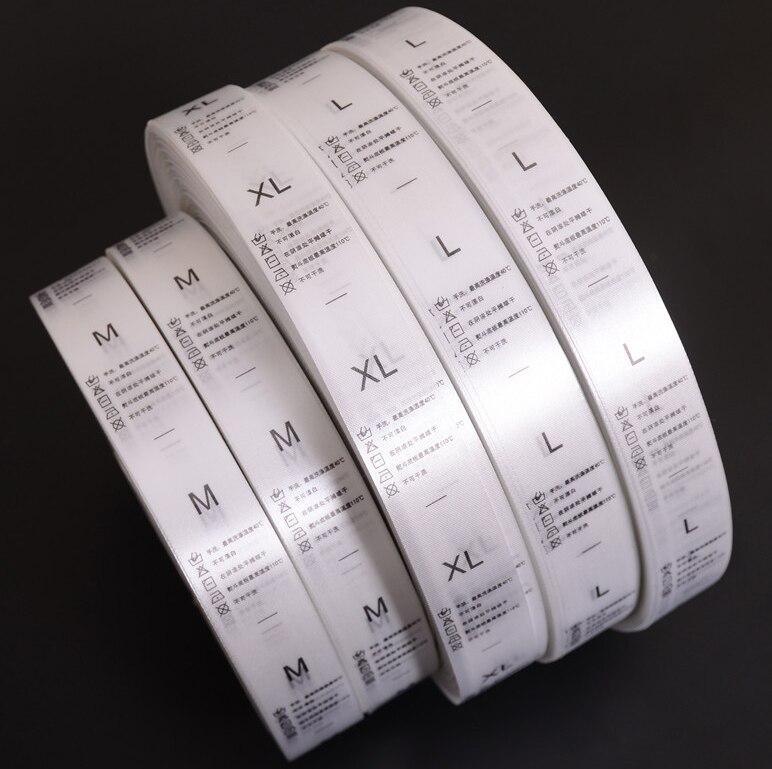 Gratis Verzending Custom Made ontwerp wit kledingstuk wassen care label kleding size tags zijde wasbare labels-in Kledinglabels van Huis & Tuin op  Groep 1