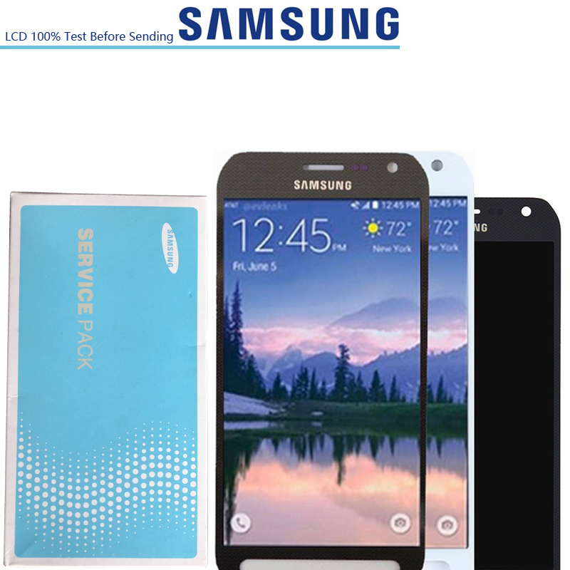 2560 1440 5 1 ORIGINAL Super Amoled LCD Screen For Samsung Galaxy S6 active G890 G890A