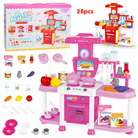 Sound and Light Sound Effectiveness Kitchen Toy Set for Foreign Trade Children 3 6 Years Old Babies