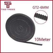 3D Yazıcı aksesuarları 10 metre 10 M GT2 6mm açık zamanlama kemeri genişliği 6mm GT2 2 GT-6 MM reprap i3 Için Kossel Mendel Rost...