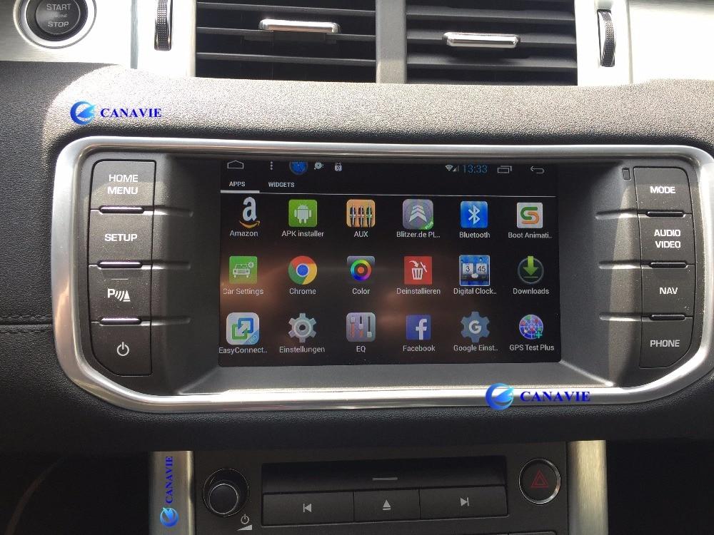 Android rádio do carro dvd gps de navegação central multimídia para evoque cheryevoque range rover sport hse freelander 4 2013 2014 2015
