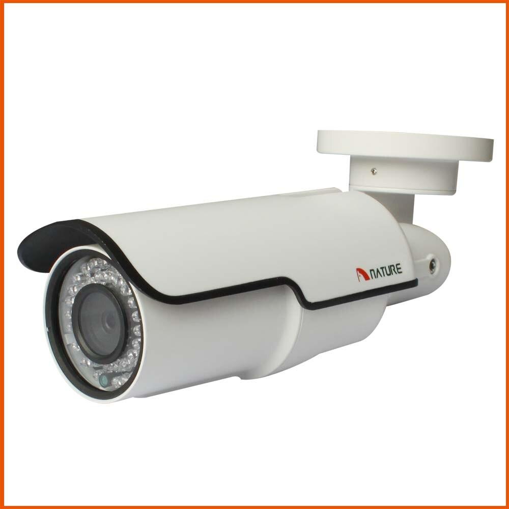 Extérieure 2MP Réseau Bullet IP Caméra de Surveillance 2.8-12 CCTV Caméra Night Vision IP66 POE Audio D'alarme De Sécurité BNC caméra