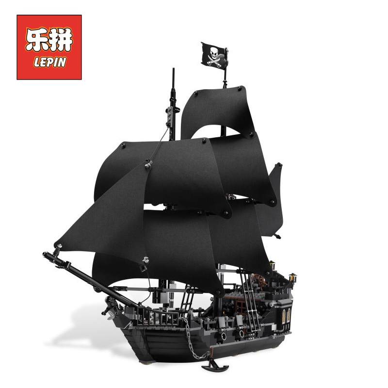 804pcs LEPIN 16006 Pirates of the Caribbean The Black Pearl model Building Blocks Set Compatible LegoINGlys 4184 children Gift kazi 1184pcs pirates of the caribbean black general black pearl ship model building blocks toys compatible with lepin
