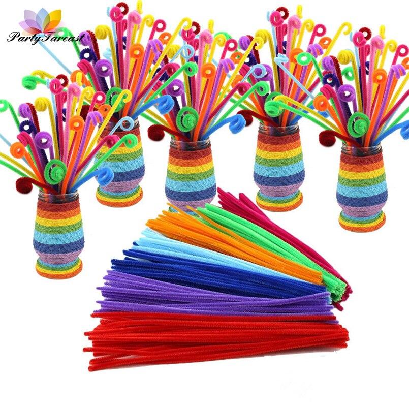 50 шт. красочные витой провод палкой плюшевые бар блеск игрушки для Для детей DIY ремесла ручной работы вечерние украшения дома