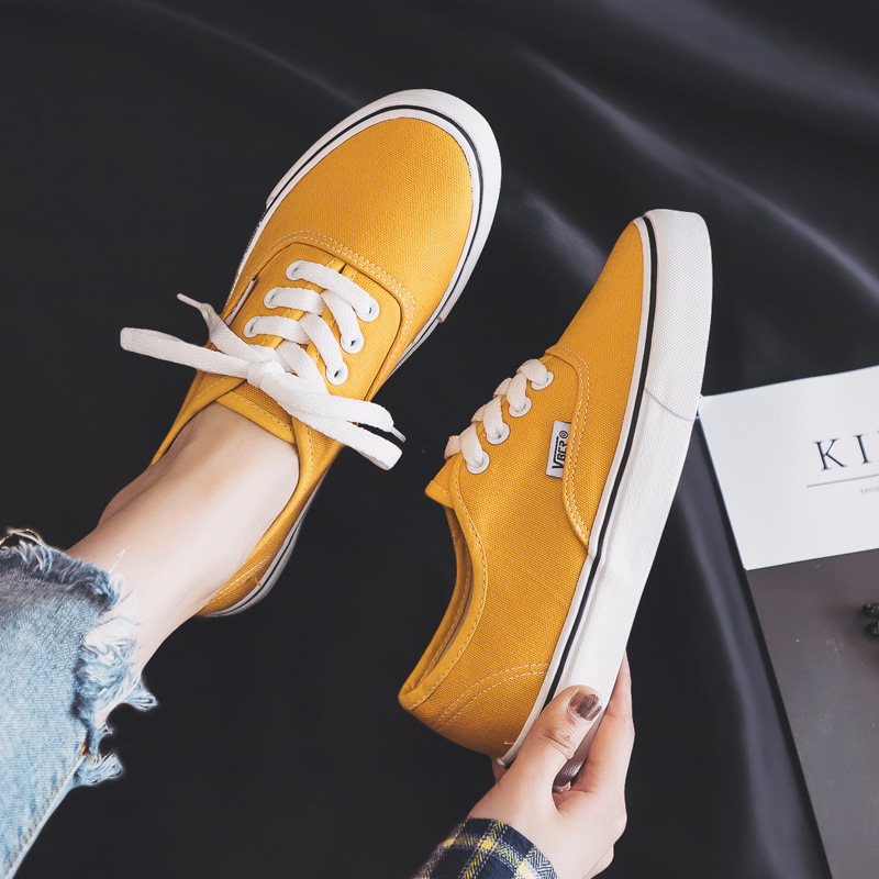 Image 5 - 2019 New Canvas Shoes Women Teenagers Skateboard Shoes Spring Summer Candy Color Street Sneaker All Match Outdoor Footware 35 40-in Women's Vulcanize Shoes from Shoes