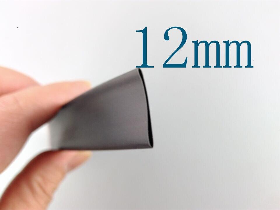 1 Meter/lot 2:1 Black 12mm Diameter Heat Shrink L62 Heatshrink Tubing Tube Sleeving Wrap Wire