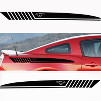 Stylish car body sticker vinyl body decal Side Sticker for Ford MUSTANG Style racing sport 2009 2017 Car accessories
