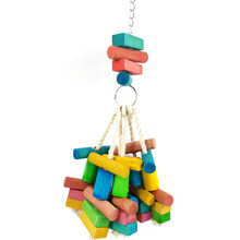 1 Pcs Parrot Toys Bird Chewing Hanging Wooden Toy Playing Medium and large parrot special bite natural wood toy