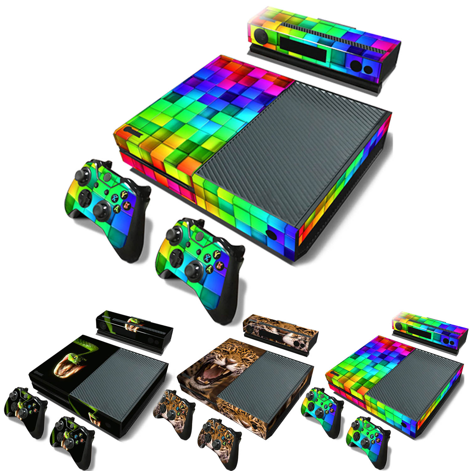 Compare prices on kinect xbox 1 online shoppingbuy low price ocday full protective skin cover sticker film for xbox one console kinect sensor remote controllers decal sciox Gallery
