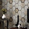 Ретро промышленный стиль обои для спальни honeycom нетканые обои 3D Звукоизолированные фоновые Роскошные фланелеты настенные Стикеры