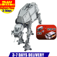 IN Stock DHL LEPIN 05050 1137Pcs Star Wars Motorized Walking AT AT Model Building Kit Minifigure