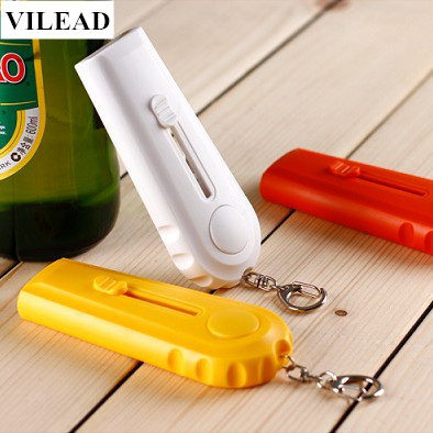VILEAD Wine Bottle Opener Keychain Beer Bottle Opener Portable Steel Beer Opening Cap Launcher Bottle Opener Shooter By Spinning