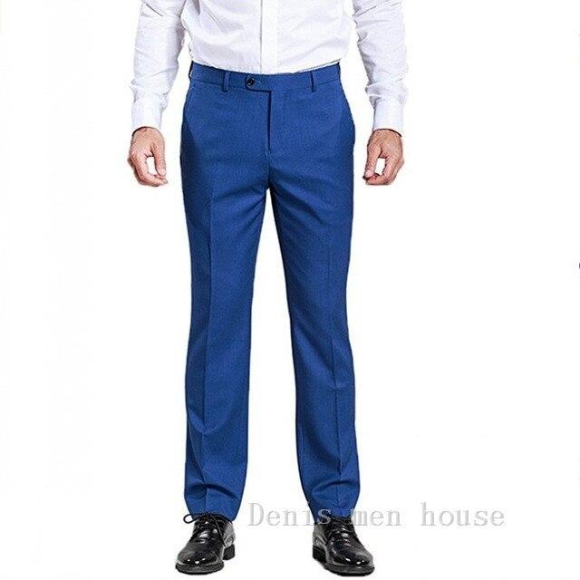2016 Новая Мода Для мужчин S Бизнес Формальные Брюки Slim Fit Дизайн Для мужчин брюк Брюки для девочек на заказ