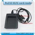 RS232 puerto rs232 125 KHZ RFID lector de tarjetas RFID de control de Acceso lector de tarjetas/usb en DC5V negro + 10 unids tarjeta