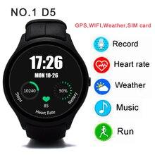 NO. 1 D5 Smart Uhr 450 mAH Bluetooth 4,0 smartwatch Wifi GPS Schrittzähler herzfrequenz armbanduhr Für Android iOS beobachten mehr sprache