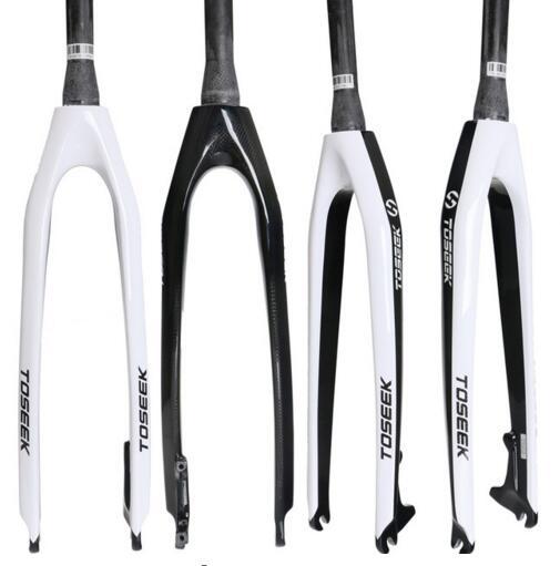 TOSEEK Carbon Fiber Bicycle Fork Cone Rigid Bicycle Forklift Bicycle Disc Brake 26 ER 27 5ER