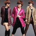 Down Parka 2016 Brand Autumn Winter Jacket Women Long Coat Female Women's Down Jacket Outwear Ultralight Hooded Thin Coat C2396