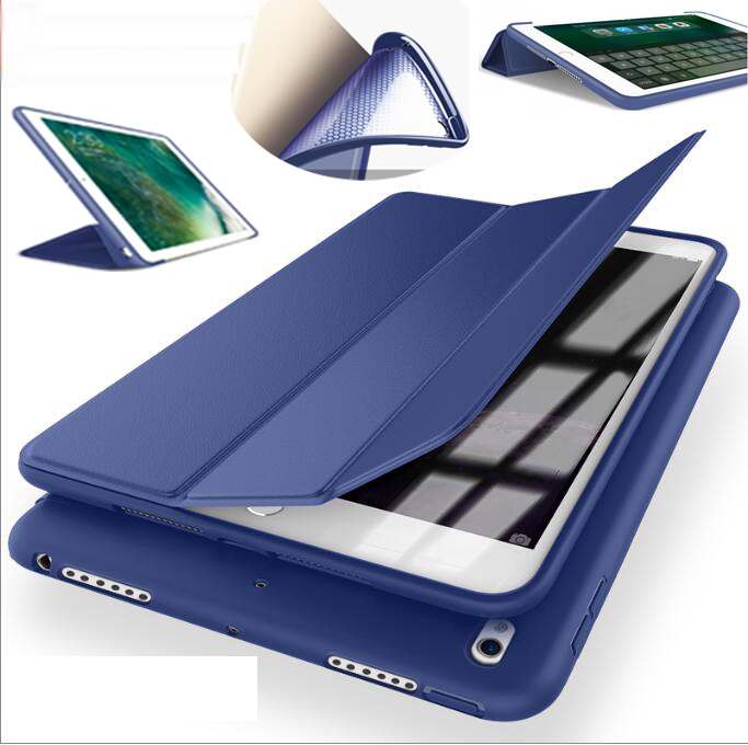 Wonderful PU leather case for apple ipad 4 3 2 cover tpu silicone soft back full