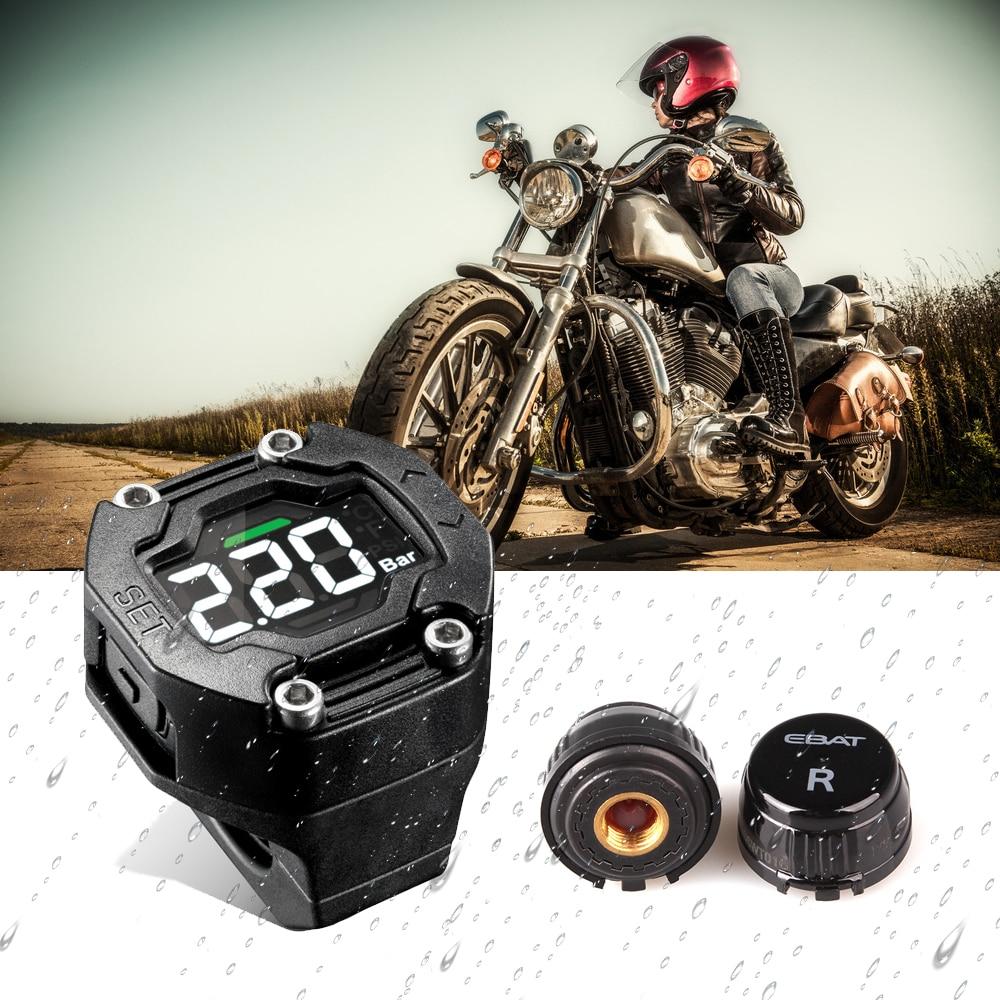 Steelmate Ebat ET 900AE font b TPMS b font DIY Motorcycle Tire Pressure Monitor System Waterproof