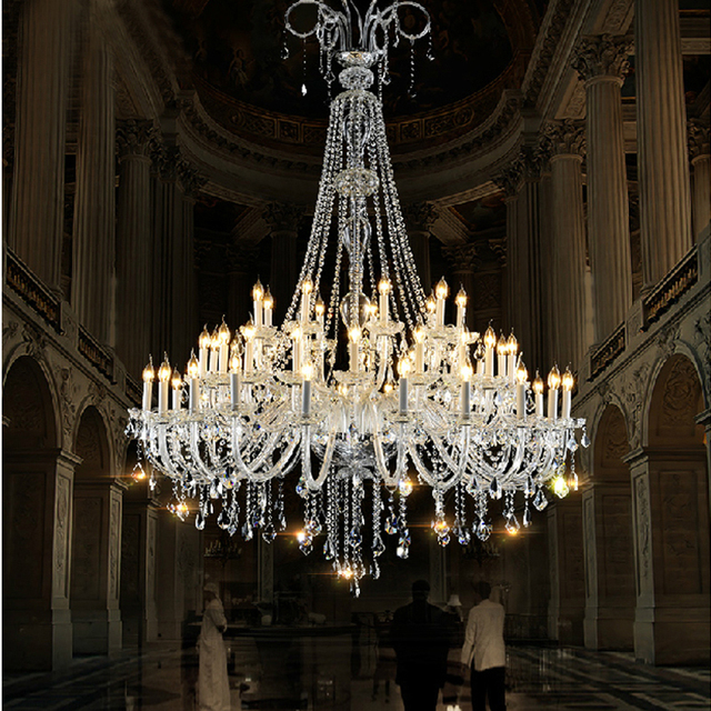 Grote Kristallen Kroonluchter Woonkamer Grote Foyer