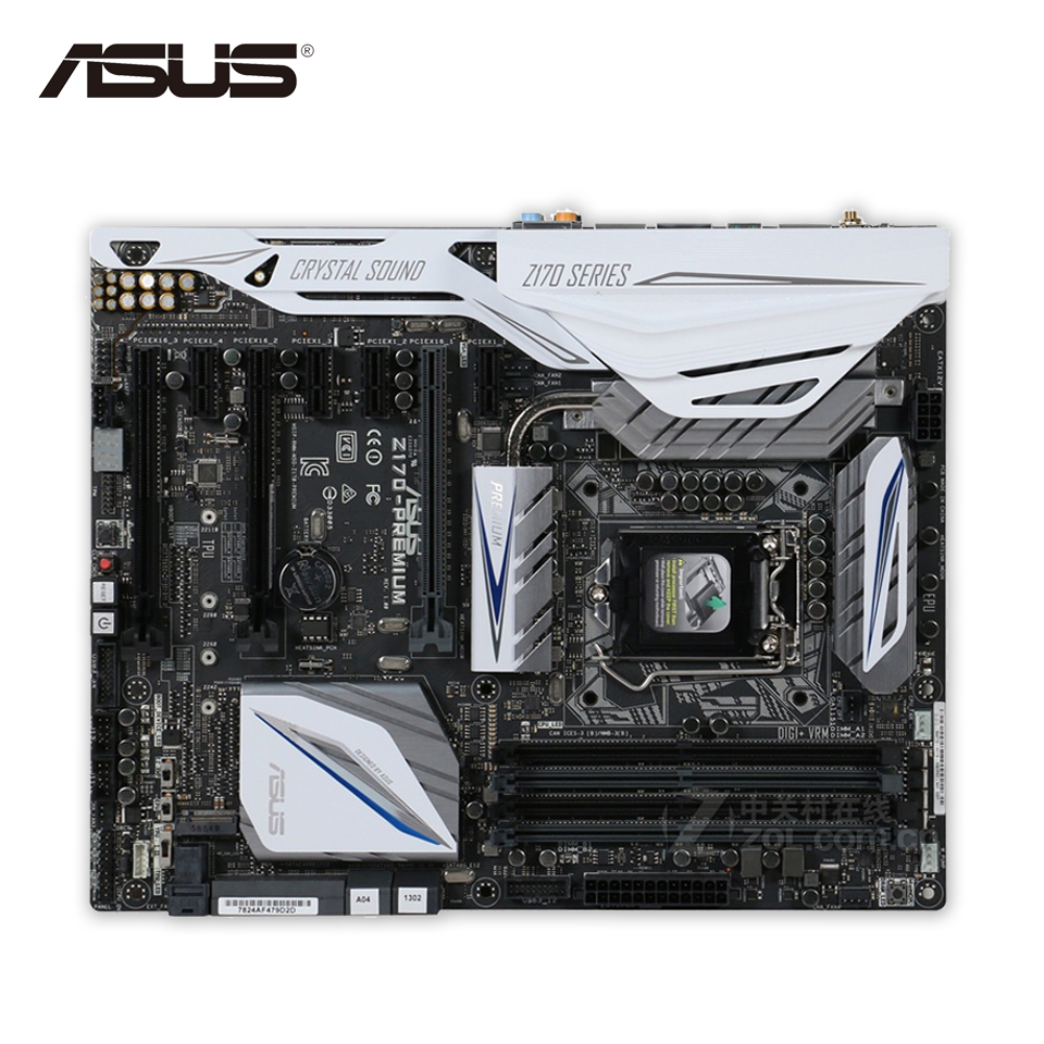 Asus Z170-PREMIUM Desktop Motherboard Z170 Socket LGA 1151 i7 i5 i3 DDR4 64G SATA3 USB3.0 ATX