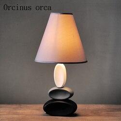 Nordic biurko sypialnia łóżko kreatywny amerykańskiej ceramiczne proste nowoczesne ciepłe badania dekoracyjne lampa stołowa