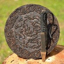 14 cm Tee Messer mit 3,53 unze Chen Cha Da Hong Pao kuchen Chinesischen Oolong-Tee Dahongpao drachen große rote robe Tee Schneider zubehör