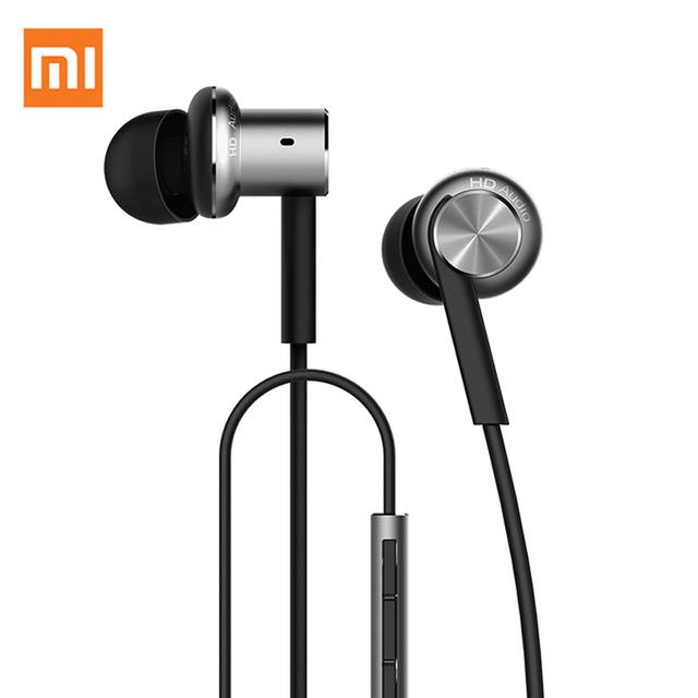 Hybrid pro pistón xiaomi xiaomi híbrido controladores duales auriculares in-ear auriculares con el telecontrol mic 3.5mm jack auriculares xiao mi