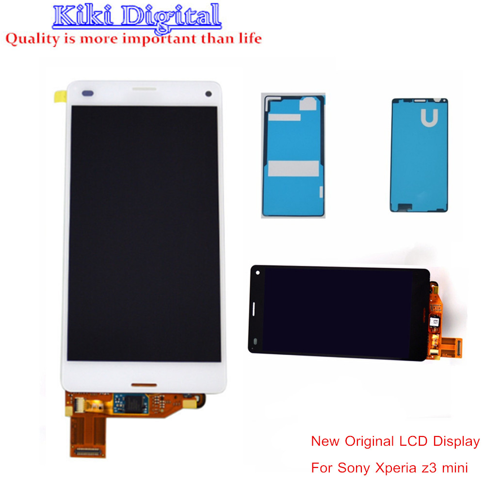 WOJOQ Original LCD Display For Sony Xperia Z3 Mini Compact M55W D5803 D5833 LCD Touch screen With Digitizer Glass Assembly