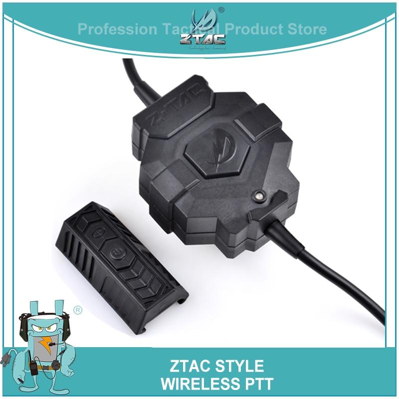z tac estilo tactical ptt sem fio adaptador de qualidade sem fio para fones de ouvido