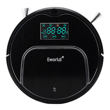 Eworld M883 ABS and Aluminium Alloy  Robot Vacuum Cleaner for Home Cleaning Carpet Black