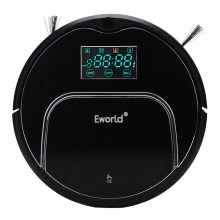 Eworld M883 ABS and Aluminium Alloy Robot Vacuum Cleaner Robot for Home Cleaning Robot Carpet Vacuum Robot Black(China)