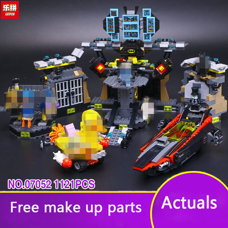 Lepin 07052 Original Movie Series Compatible with MOC 70909 The Batcave Break-in Building Blocks Bricks Toys for kid LP054 new stock lepin 07052 batcave break in set 1047pcs genuine model moviebuilding blocks bricks educational toys boys girls 70909