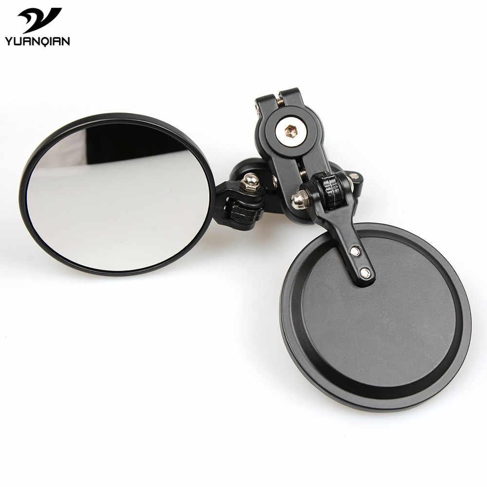จับปลายบาร์กระจกรถจักรยานยนต์กระจก Handlebar ปลายด้านข้างสำหรับ Suzuki DRZ400 DRZ 400 GSXR 750 1000 1100 600 k7 K8 K9