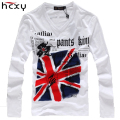 2016 Autumn NEW fashion Casual T-Shirts Indian Head printing word t shirt long sleeve men t shirt clothing