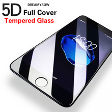 5D Curved Edge for iPhone 8 7 6 Plus X Full Cover Screen Protector Case for iPhone 6S 7Plus Tempered Glass Protective Film