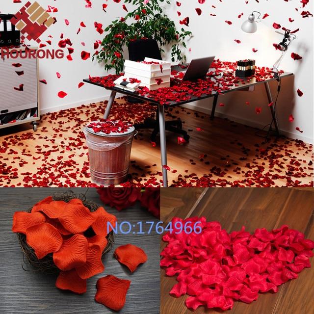 1000pcs Lot 21 Colors Silk Rose Petals Leaves Artificial Flowers Wedding Decoration Party Decor