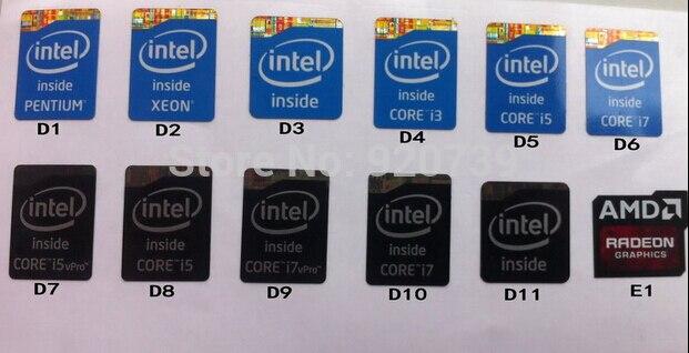 100%New Original For Intel Pentium Xeon I3 I5 I7 Sticker Size:16x21mm Laptop