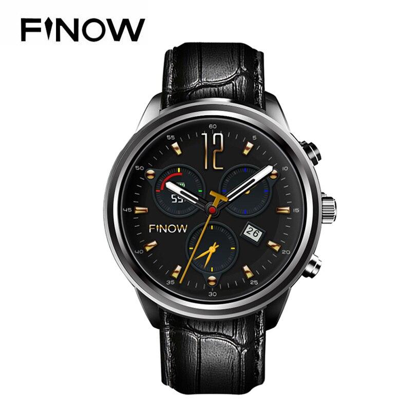 Neue Finow X5 Air Smart Uhr Ram 2 GB/Rom 16 GB MTK6580 Quad Core Watchphone Android 5.1 3G Bluetooth Smartwatch für Andorid/IOS