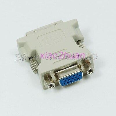 3Pcs/lot VGA 15 Pin Female to DVI-D Male  Adapter Converter LCD #K400Y# DropShip 50pcs vga female to dvi 24 5 pin male adapter to 15 pin vga female connector extender converter