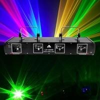 (Ship From USA ) 760mW 4 Len 4 Beam RGBY Laser Light DMX 7CH DJ Disco Stage Party Show Club