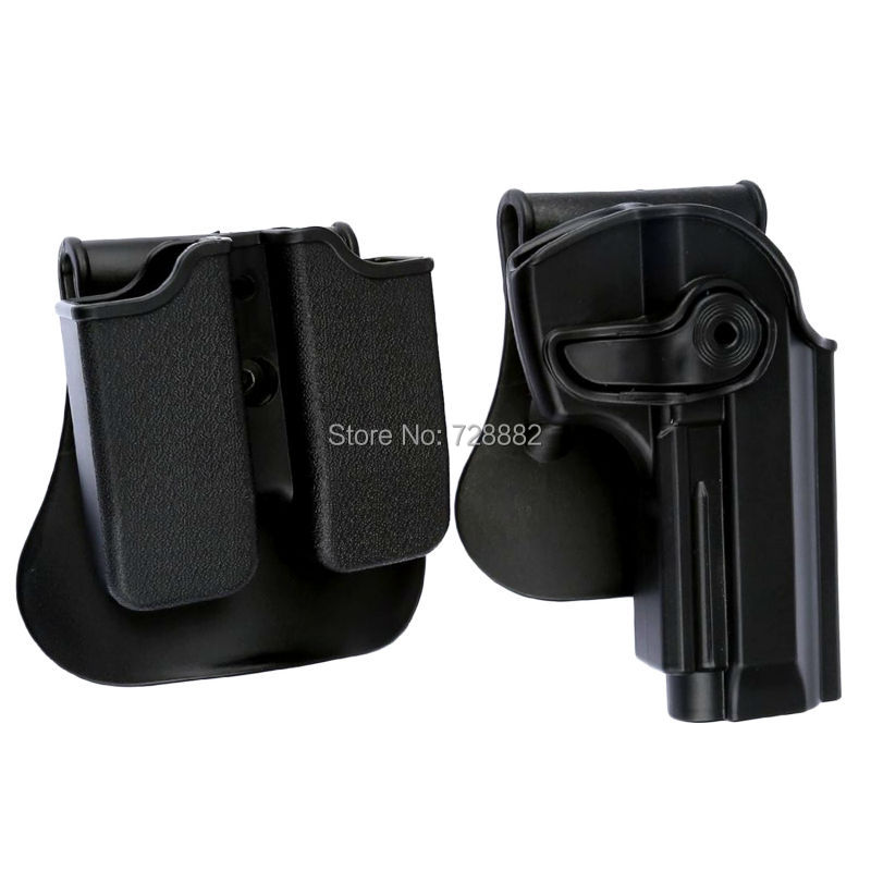 Цена за Tactical Правша Кобура Двухместный Журнал Paddle Чехол для Beretta 92 92FS 96