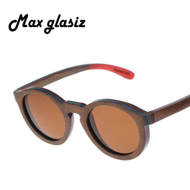2016 горячие моды древесины мадейра ПОЛЯРИЗОВАННЫЕ очки Óculos de sol мужчины женщины деревянные вс стекла ретро старинные очки деревянные очки
