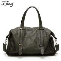 Ellacey Vintage City Bag Women Bag Ladies PU Leather HandBag Pattern CrossBody Tote For Women Locomotive bag Leisure Pillow Bag