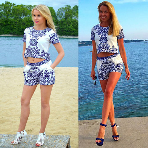 2 Piece Crop Top and Shorts Promotion-Shop for Promotional 2 Piece ...