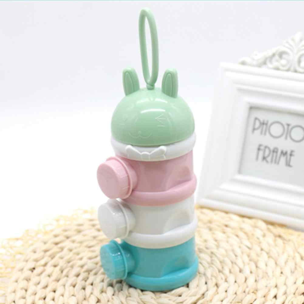 Kidlove 3-layer المحمولة الحليب مسحوق صيغة موزع الغذاء الحاويات الرضع الفول صندوق تخزين للأطفال رعاية الطفل طفل السفر زجاجة