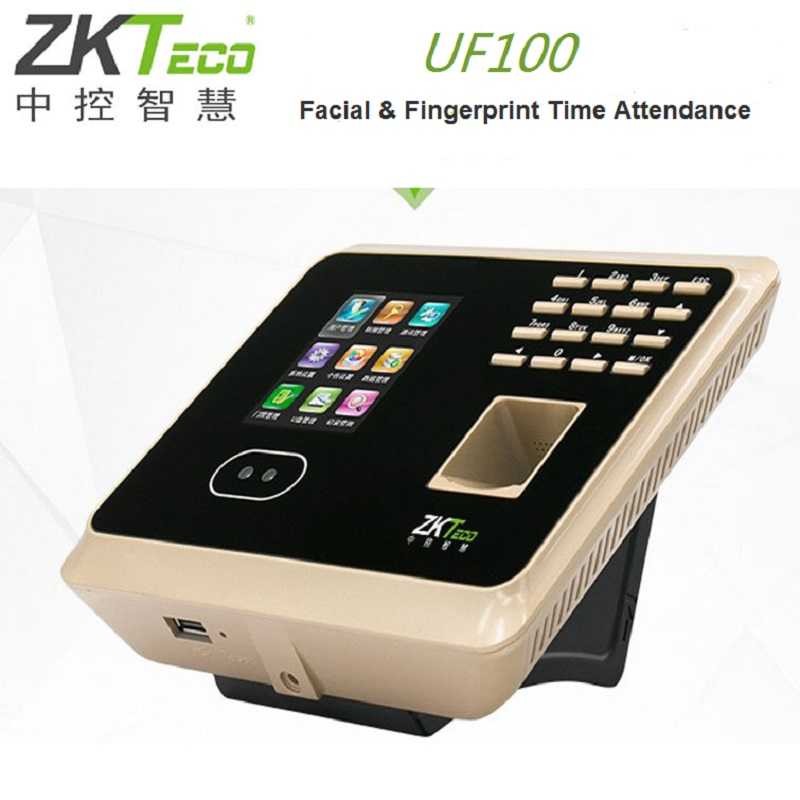 ZK UF100 Multi-biometric Identification Time & Attendance Terminal Face Recognition High-resolution Infrared And Color Camera