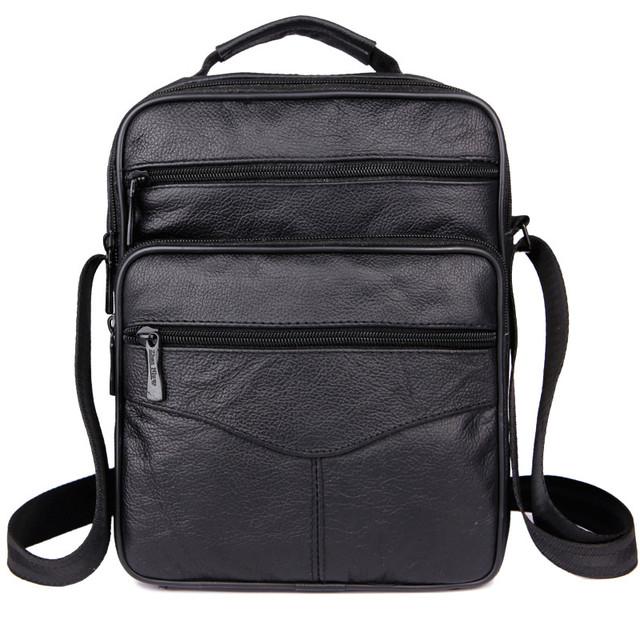 Hot! moda masculina 100% genuíno saco do mensageiro dos homens de couro de design retro clássico bolsa de ombro de couro de vaca cheio de pequenas viagens saco